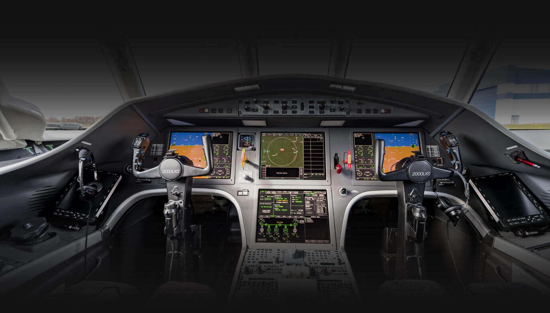Falcon 2000LXS Aircraft Interior Details